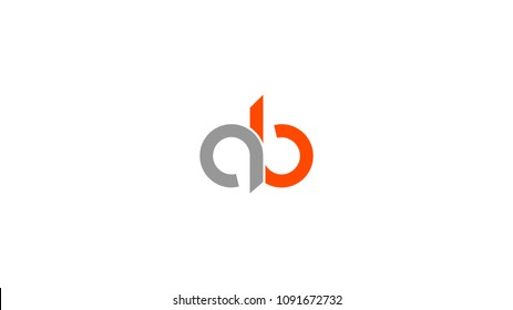 ab ba letter abstract alphabet vector logo