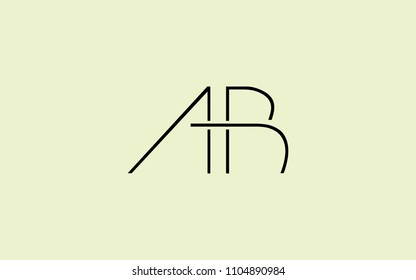 AB BA Uppercase Letter Initial Logo Design Template Vector Illustration