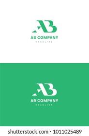 AB company logo template.