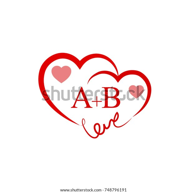 Ab Initial Wedding Invitation Love Logo Stock Vector Royalty Free