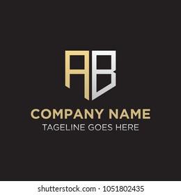 AB Letter Initial Logo