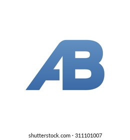 AB letter logo connected