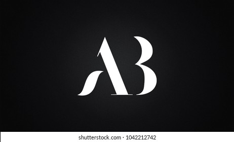 AB Letter Logo Design Template Vector