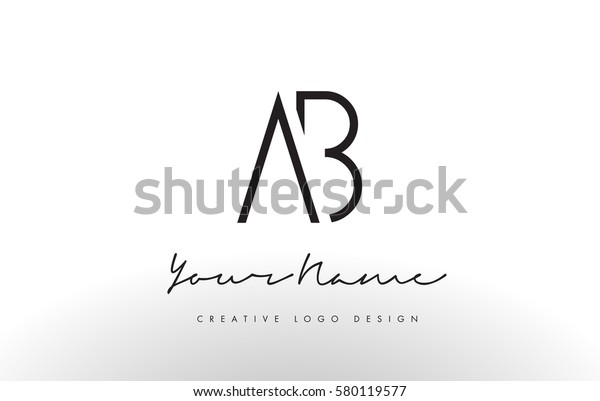 Ab Letters Logo Design Slim Simple Stock Vector Royalty Free 580119577,Layout Interior Design Templates