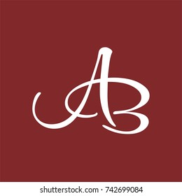 AB logo initial letter design template vector