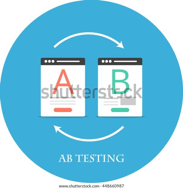 Icono plano de prueba de AB