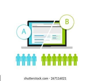 AB testing A/B split comparison web design