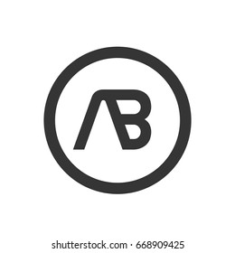 ab vector logo design