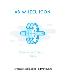 ab wheel icon isolated on white  sports equipment vector logo  modern  pictogram for web