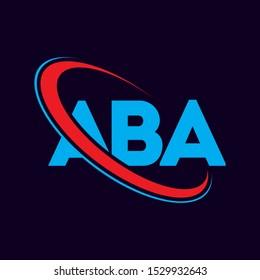 ABA letter logo, aba vector