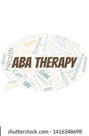 Aba Therapy word cloud. Wordcloud made with text only.