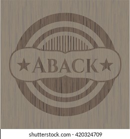 Aback realistic wooden emblem