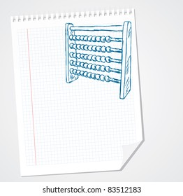Abacus - Doodle Vector