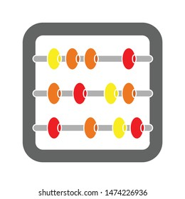 abacus icon. flat illustration of abacus vector icon. abacus sign symbol