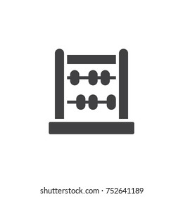 Abacus icon vector, filled flat sign, solid pictogram isolated on white. Calculator symbol, logo illustration.