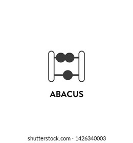 abacus icon vector. abacus vector graphic illustration