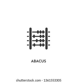 abacus icon vector. abacus sign on white background. abacus icon for web and app