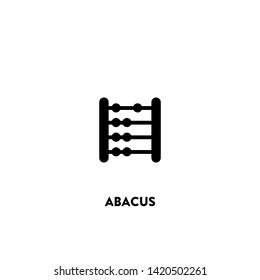 abacus icon vector. abacus sign on white background.