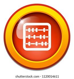 Abacus illustration isolated - education icon - mathematics school - symbol