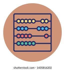Abacus Isolated Vector Icon which can easily modify or edit
