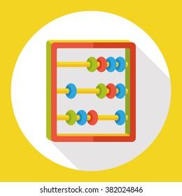 Abacus math flat icon