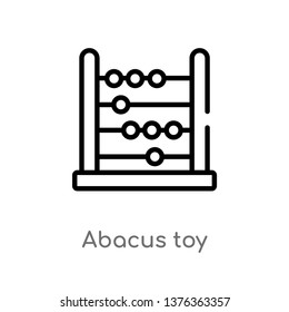 abacus toy vector line icon. Simple element illustration. abacus toy outline icon from toys concept. Can be used for web and mobile