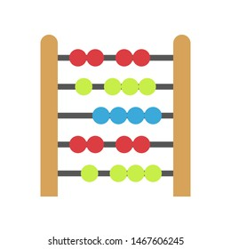Abacus vector, Back to school flat style icon