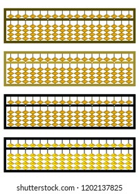 Abacus vector illustration, learning tools, mental ariithmetic tools, vector