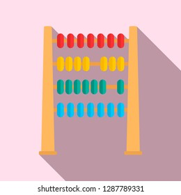 Abacus wood toy icon. Flat illustration of abacus wood toy vector icon for web design