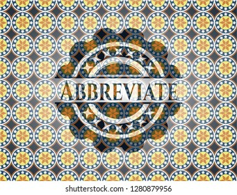 Abbreviate arabesque emblem. arabic decoration.