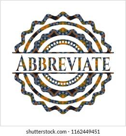 Abbreviate arabesque style badge. arabic decoration.