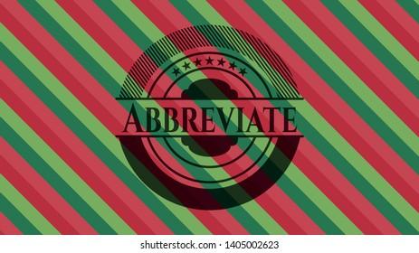 Abbreviate christmas badge background. Vector Illustration. Detailed.