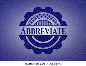 Abbreviate with denim texture