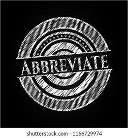 Abbreviate on blackboard