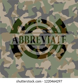 Abbreviate on camouflage texture