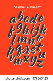 ABC, alphabet, calligraphy, handwritten set of letters