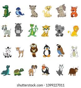 abc animal pack 24 animals