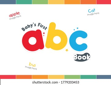 ABC book cover, Alphabet cover, kids abc cover, book for kids, first ABC cover, Board book title, children design, kids title, ABC book, My first Letter, first letter,   - Shutterstock ID 1779203453