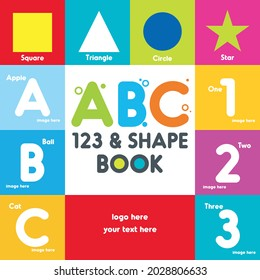 ABC book cover, Alphabet cover, kids abc cover, book for kids, first ABC cover, Board book title, children design, kids title, ABC book, My first Letter, first letter - Shutterstock ID 2028806633