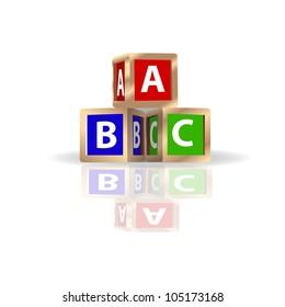 ABC Building Blocks Vector
