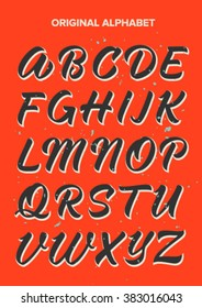 ABC calligraphy, alphabet