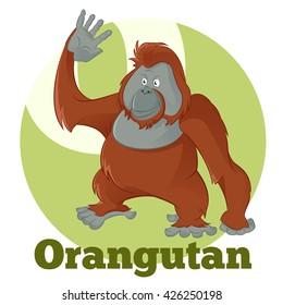 ABC Cartoon Orangutan