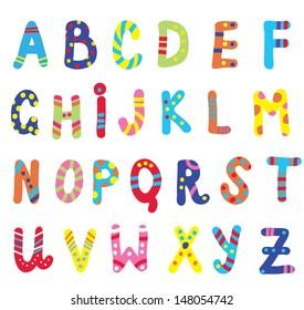 Abc for children funny design