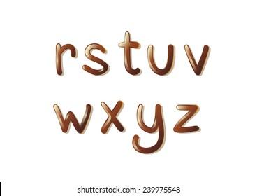 ABC Chocolate Alphabet