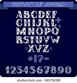 ABC concept. Typography design. Alphabet vector letters.