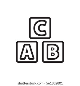 ABC cube icon illustration isolated vector sign symbol