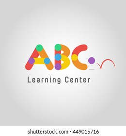 ABC design, kids logo, kindergarten logo,learning and education,Vector Template.