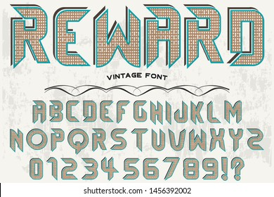 abc Font alphabet Script Typeface handcrafted handwritten vector label design old style.Shadow Effect.vintage Hand Drawn.Retro Typography.Vector Illustration.