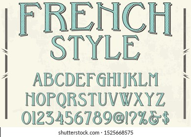 abc Font alphabet  Alphabet Font. Typography modern style gold font set. vector illustration label design french style