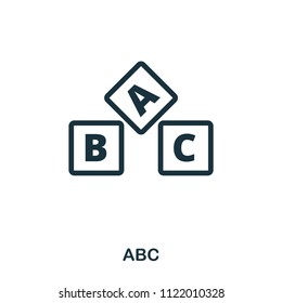 Abc icon. Line style icon design. UI. Illustration of abc icon. Pictogram isolated on white. Ready to use in web design, apps, software, print.